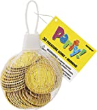 Plastic Gold Treasure Coins Party Bag Fillers, Pack of 30