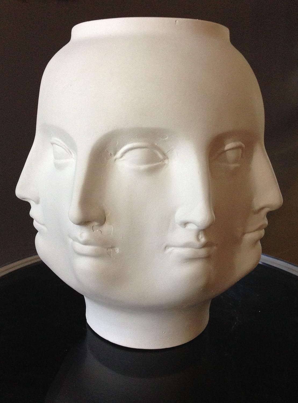 Amazon maxamilan perpetual faces vase white home kitchen reviewsmspy