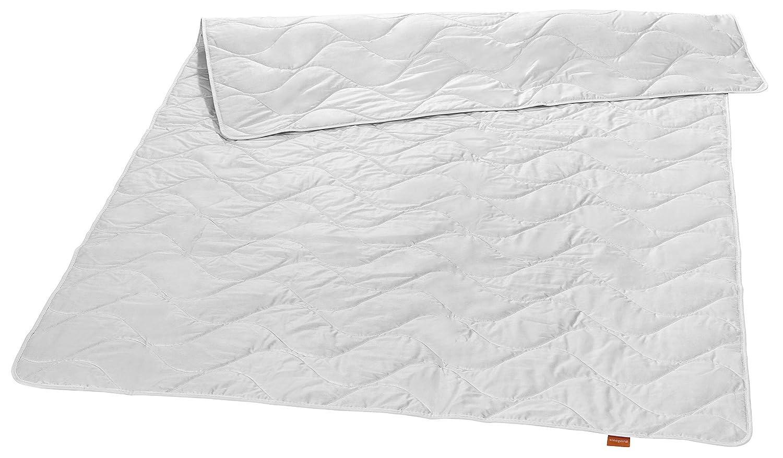 Sleepling 194452 Nature Wildseide Seiden-Leichtsteppbett 100% Tussah Seide 200 x 200 cm, weiß
