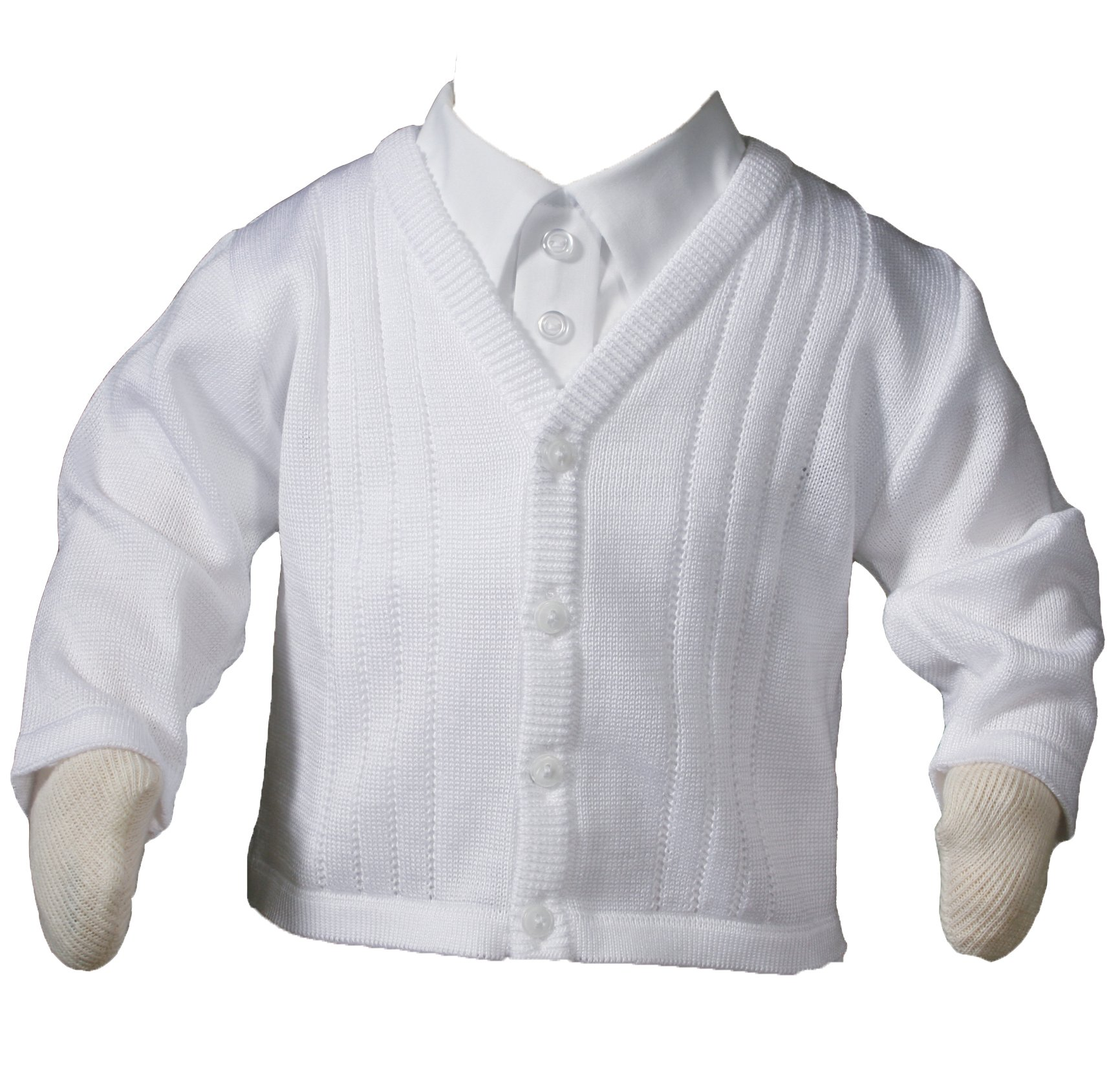 Little Things Mean A Lot Boys Everett Acrylic Sweater Size 24 Months White by Little Things Mean A Lot