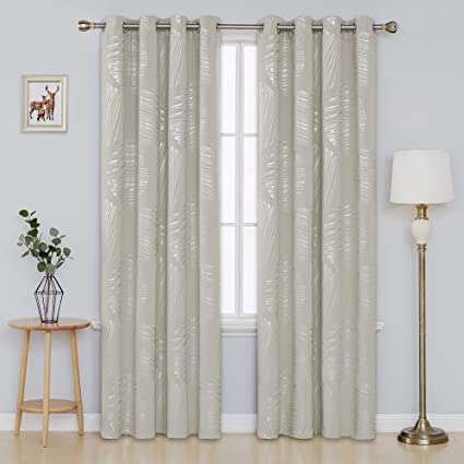 Office curtains Blinds Image Unavailable Atrainingco Amazoncom Deconovo Foil Print Room Darkening Drapes Blackout