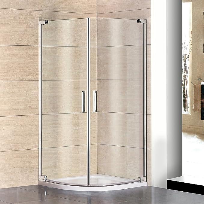 90 x 90 x 195 cm redondo ducha Mampara de ducha Cuarto circular (8 ...