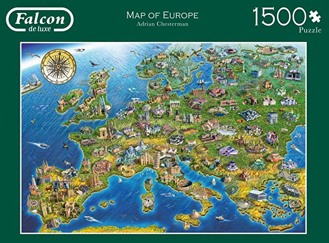 Jumbo 11057 - Falcon - Map of Europe - 1500 Teile