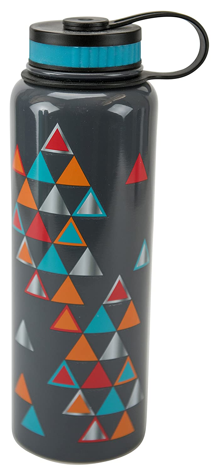 Boston Warehouse Cantini 40-Oz Stainless Steel Water Bottle Pyramids