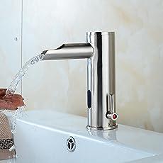 motion sensor faucet. Electronic Automatic Sensor Touchless Bathroom Sink Faucet, Motion Activated Hands-Free Vessel Tap Faucet B