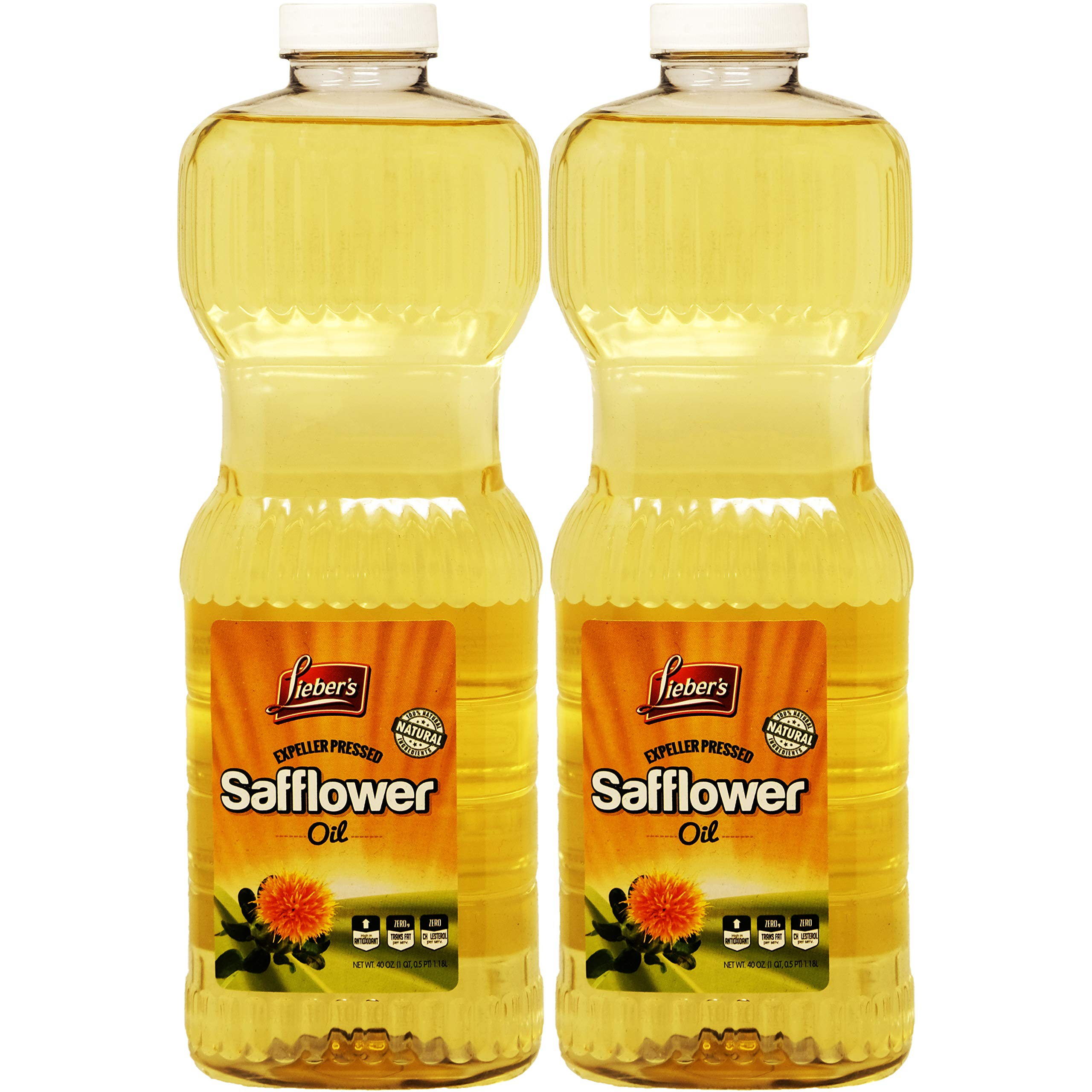 Safflower Oil, Kosher, 40 Ounce Bottle (Pack of 2) by Lieber's