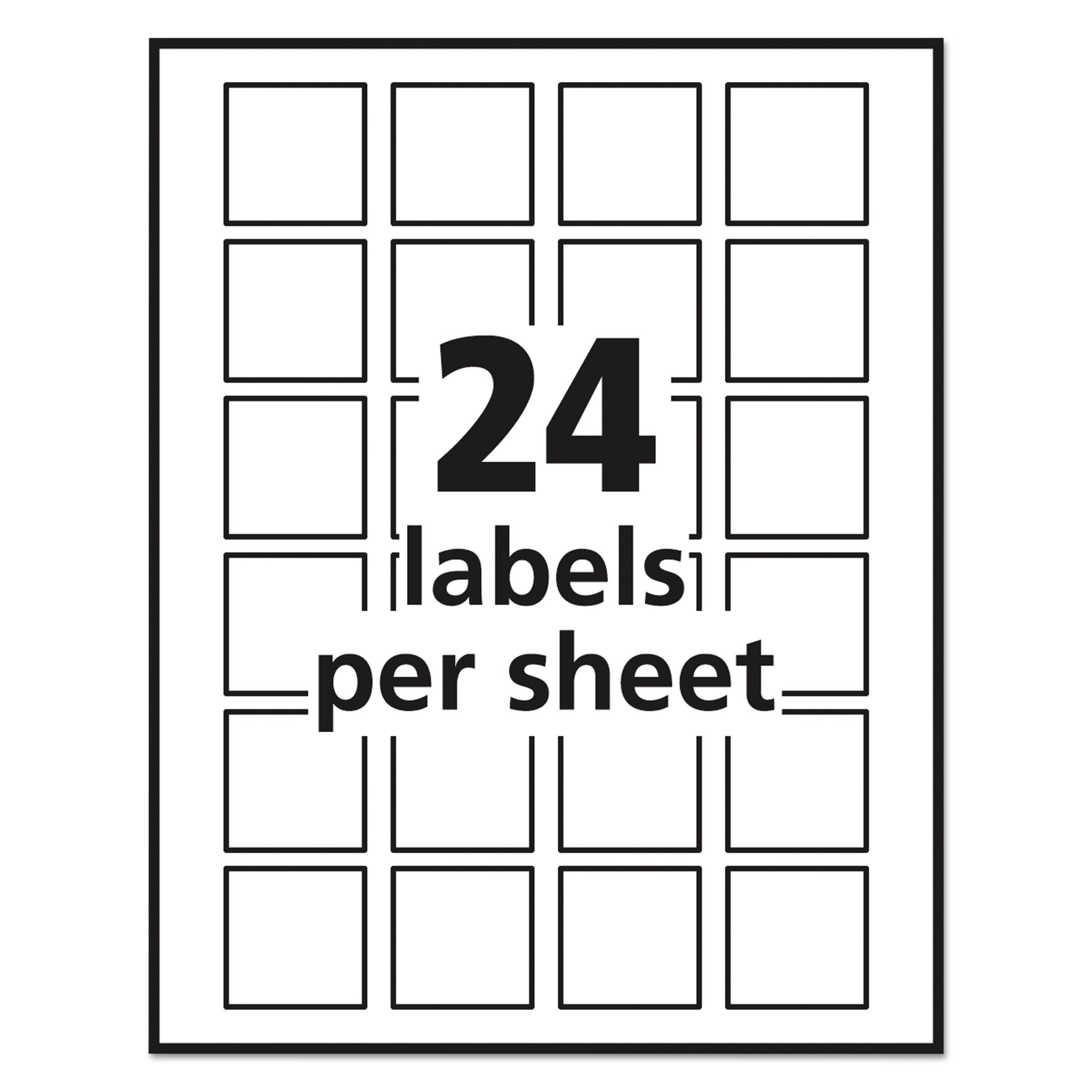 avery easy peel print to the edge permanent white square labels true block 15 x 15 pack of 600 22805 22805 computers features electronics