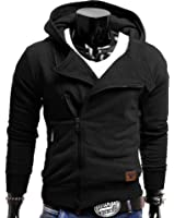 MAKI 23 Hommes Sweatshirt Hoodie Hoody Sweats-hirt Pullover Manches Matelassées Hipster Jumper avec Imprimé Floral S M L XL