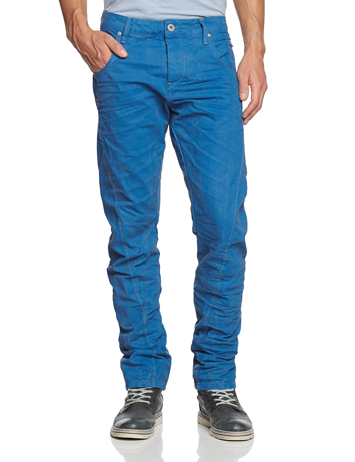 JACK & JONES Herren Jeans Normaler Bund 12069464 STAN TWISTED P BLUE JOS CORE