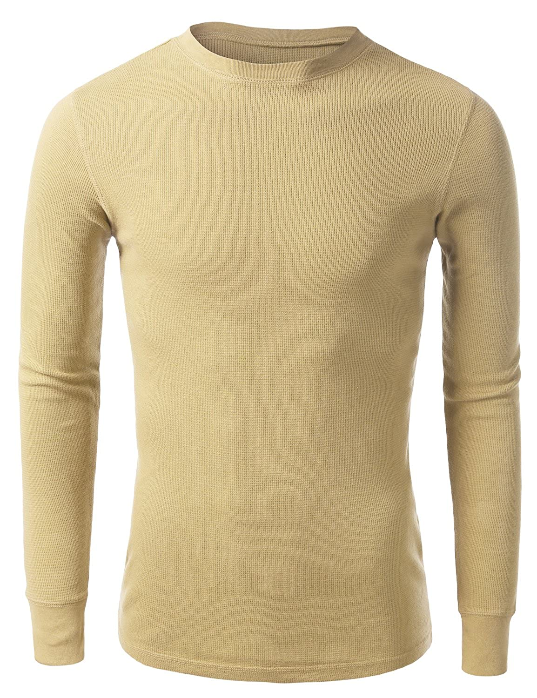 Mbj Mens Active Crew Neck Thermal Long Sleeve Shirt Goatstee