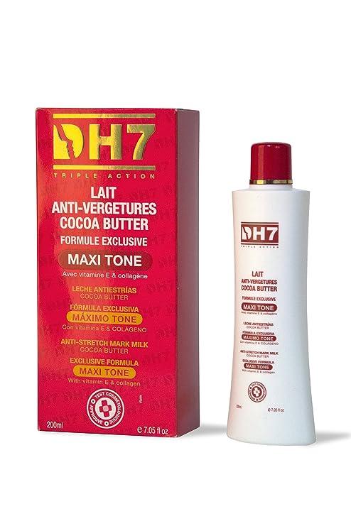 DH7Anti-Stretch marca crema loción con manteca de cacao, Vitamina
