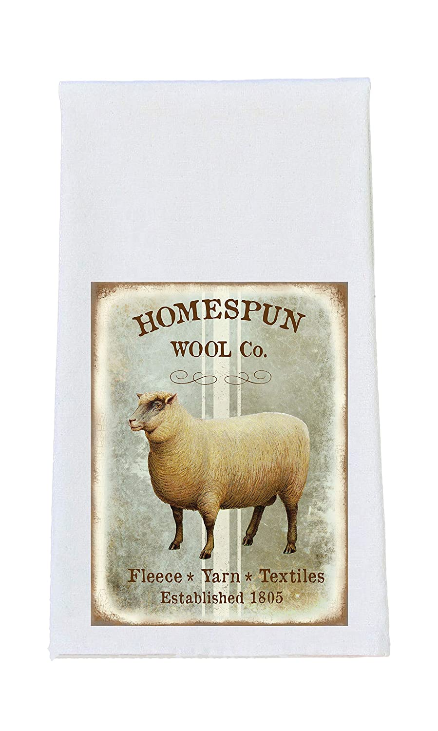 Amazon Com Sheep Homespun Wool Print Tea Towel Sheep Print