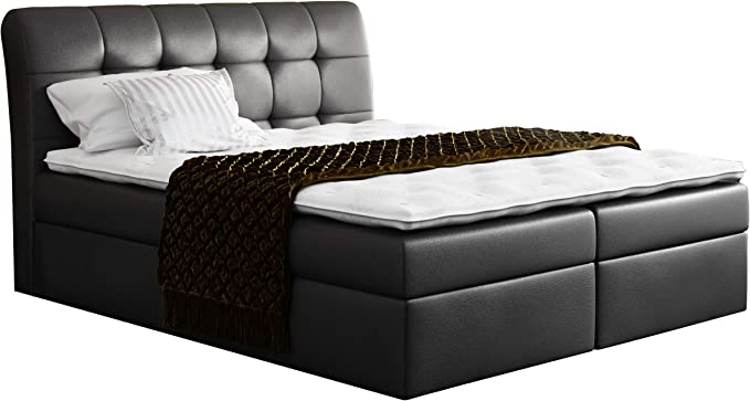 Estructura de cama con somier cazeres, cama doble estilo ...