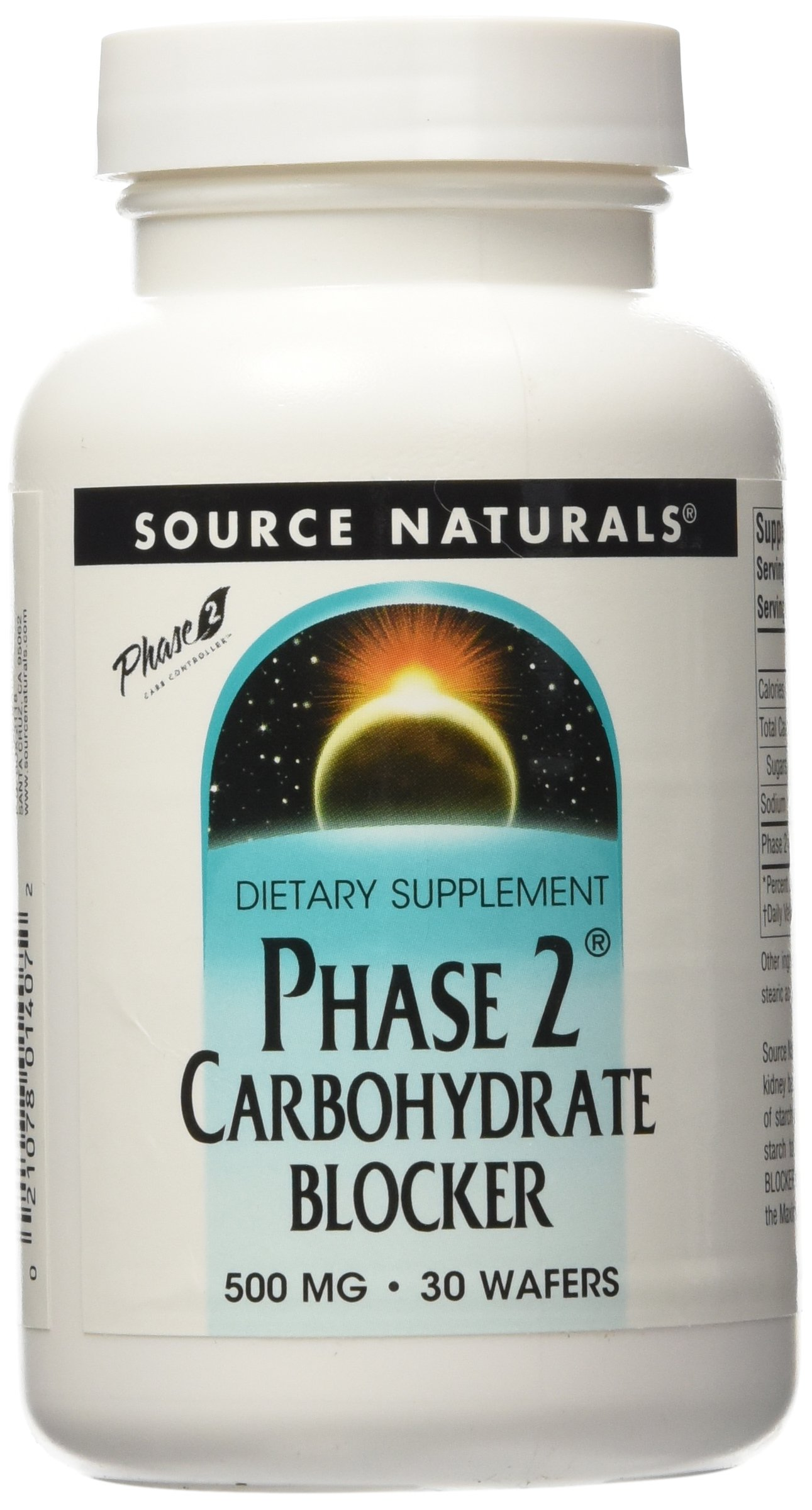 SOURCE NATURALS Phase 2 Carbohydrate Blocker 500 Mg Wafer, 30 Count