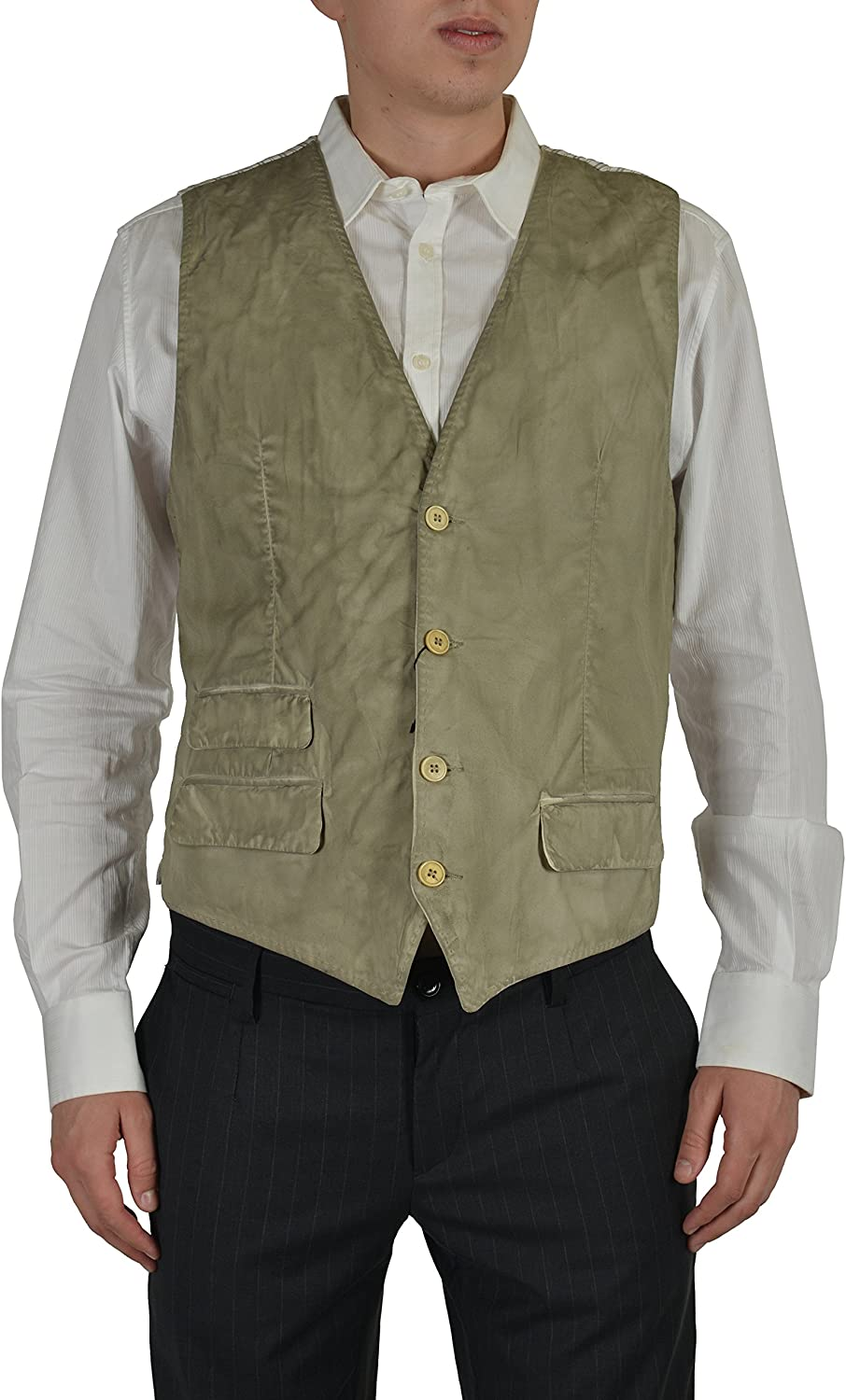 Dolce /& Gabbana D/&G Mens Beige Four Button Vest Size US 38 IT 48