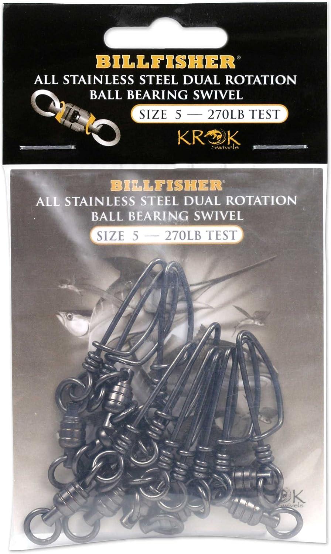 Billfisher KBBSS270-10PK Krok BB Fishing Swivels