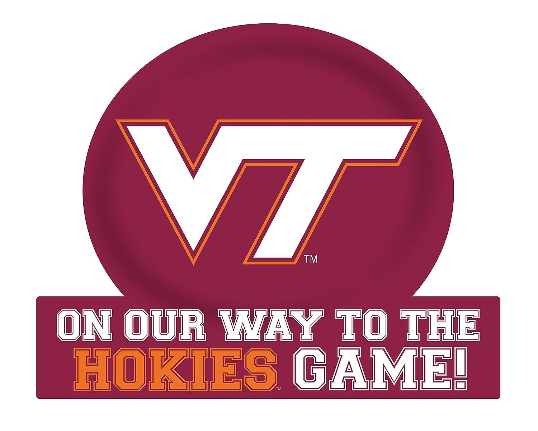 Virginia Tech Hokies Jumbo On Our Way Magnet