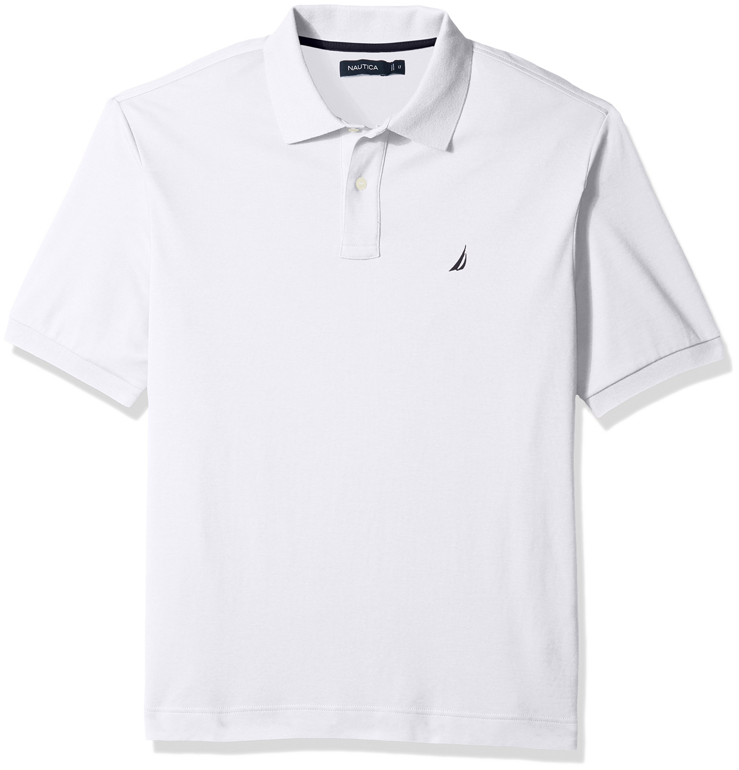 Nautica Men's Classic Fit Short Sleeve Solid Soft Cotton Polo Shirt, bright white, 3X-Large