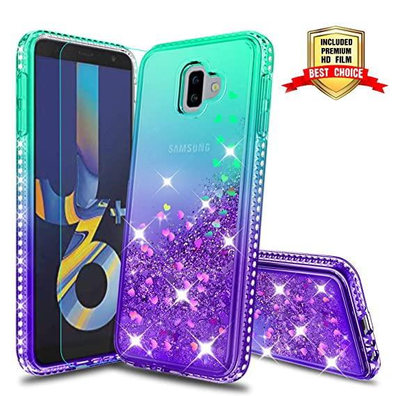 Galaxy J6 Plus Case, Samsung Galaxy J6 Prime Case,Samsung Galaxy J6+ Case, Atump Fun Glitter Liquid Sparkle Diamond Cute TPU Silicone Protective Phone ...