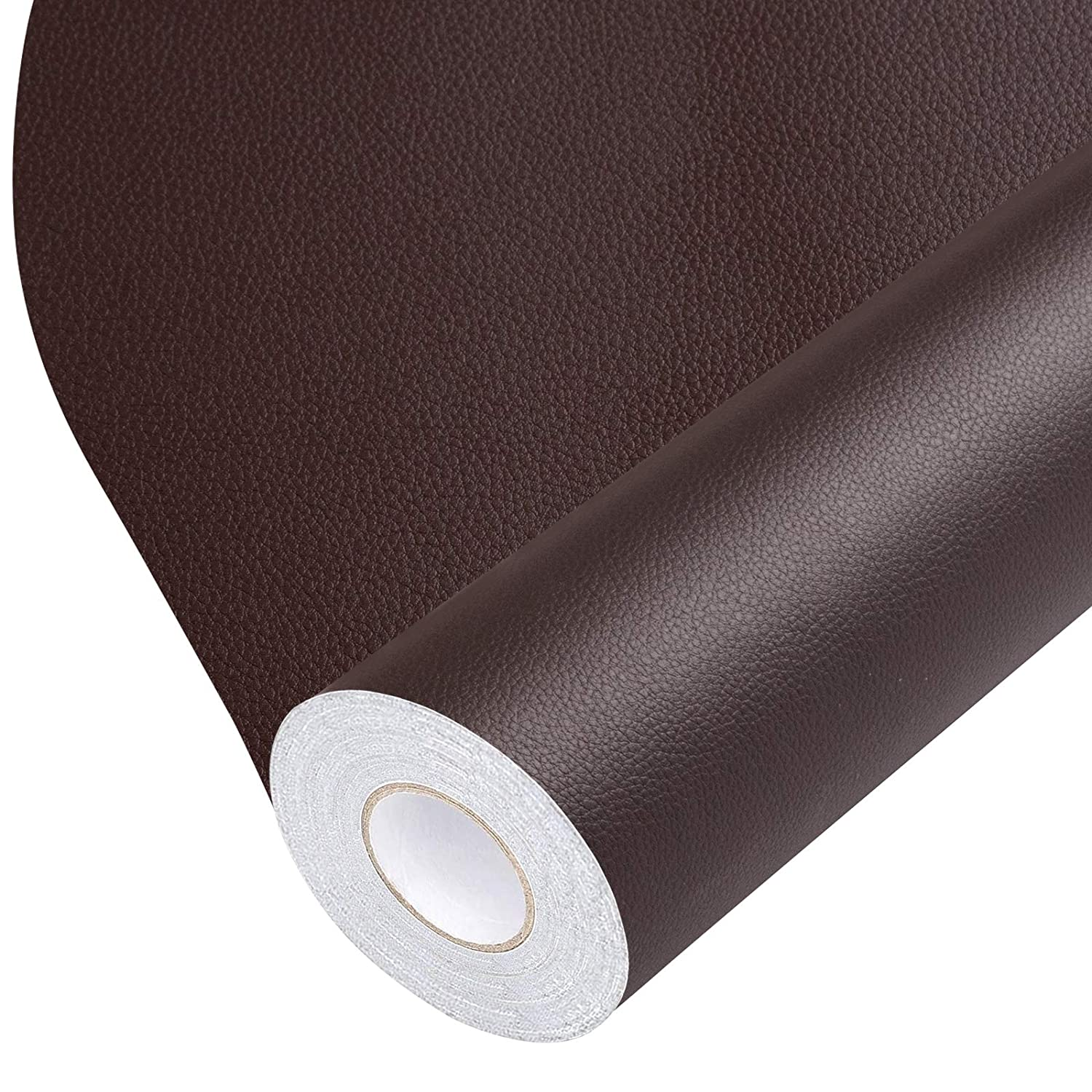 Leather Repair Tape, Self-Adhesive Leather Repair Patch for Handbags,Furniture, Drivers Seat, Sofas, Car Seats (Brown, 17X79 inch)