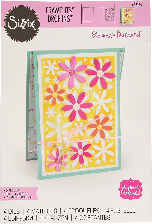 Sizzix Framelits Dies By Stephanie Barnard 20//Pkg Circle #4 Flip-Its Card