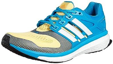 watch 264ef 83742 adidas Performance Energy Boost 2 ESM Chaussures de Course Running Homme  Bleu Jaune Techfit Performance T