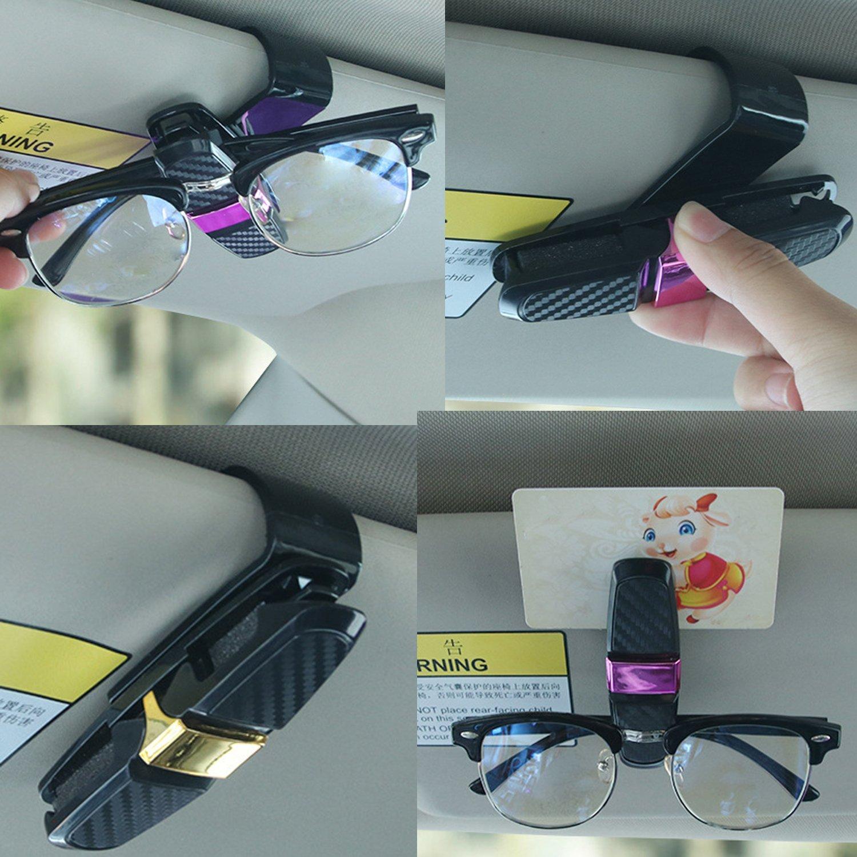 Fushengda 2/180//° Rotation 2/Paar Sonnenbrille KFZ Brillenhalterung Sonne Visier Clip Brillen Halter Sonnenbrille Halter mit Ticket Karte Clip Auto Fahrzeug Zubeh/ör