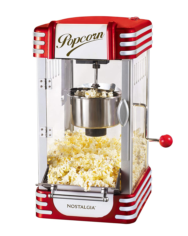 amazon com: nostalgia rkp630 retro 2 5-ounce kettle popcorn maker: electric popcorn  poppers: kitchen & dining