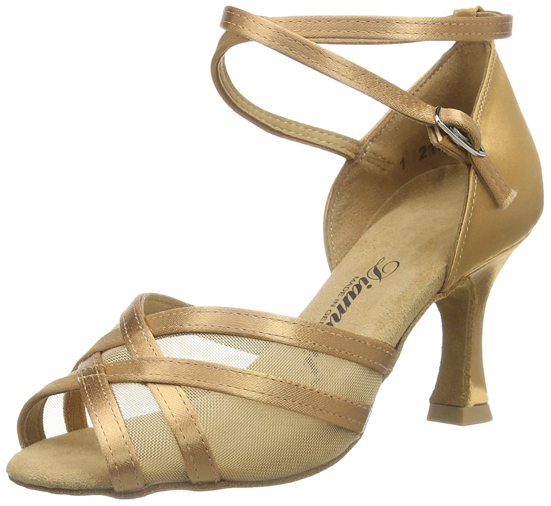 Marron (Bronze) Diahommet femmes Latein Tanzchaussures 035-087-087, Chaussures de Danse de Salon Femme 44 EU