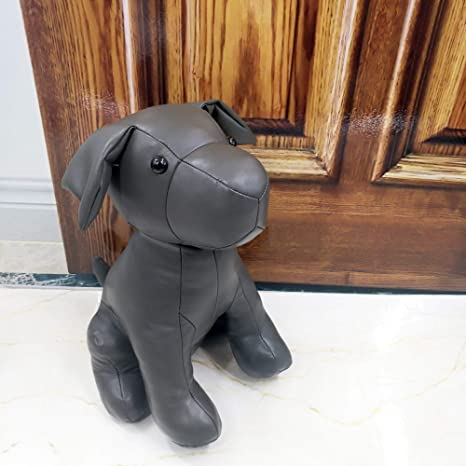 leather dog door stopper