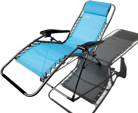 Strathwood Basics Anti Gravity Adjustable Recliner Chair Caribbean Blue