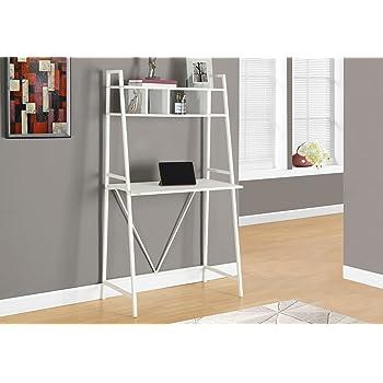 Amazon Com Monarch Ladder Style Computer Desk 61 Quot Dark