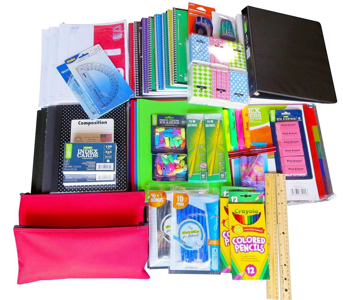 Mega Bulk Back to School Supply Bundle Kit Over 70 + Items by Generic