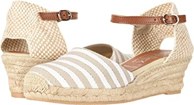 226db74807f David Tate Women s Malta Beige Stripe Fabric 36 ...