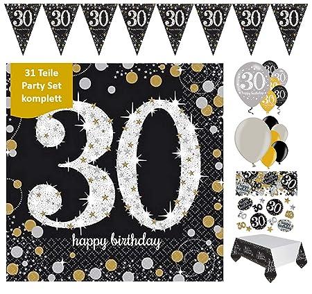 Fijo Decoración celebran para el 30 cumpleaños, 31 piezas ...
