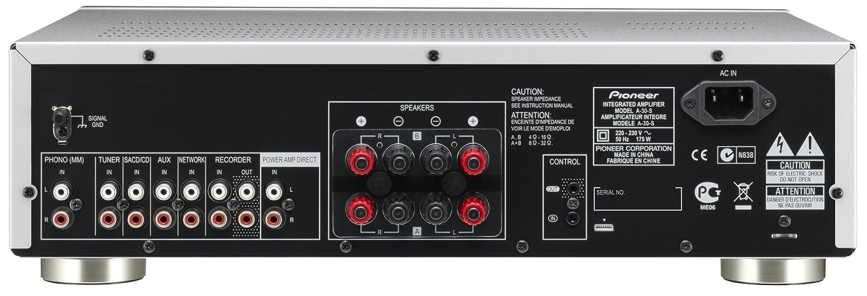 Pioneer A-30-S Amplificatore stereo da 70W con design Direct Energy Argento//Silver