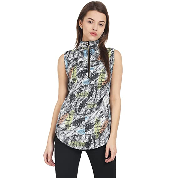 b98f0d59d5 Suchos White & Black Color Sleeveless, High Neck Casual top for Women and  Girls: Amazon.in: Clothing & Accessories