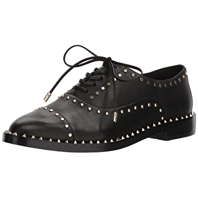 NINE WEST Women's Garroy Leather Oxford Flat | Oxfords