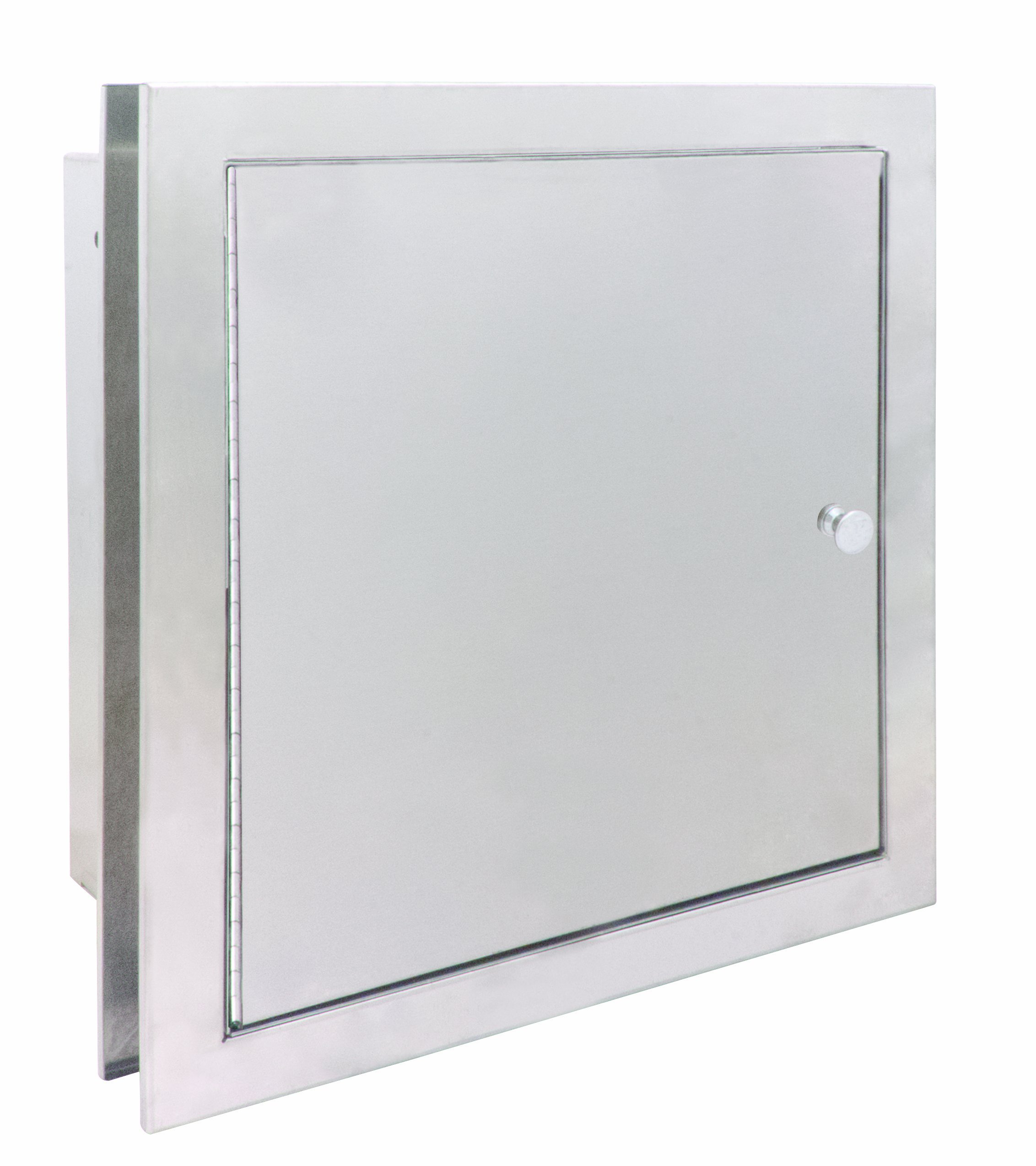 Bradley 9813-000000 18 Gauge Satin Stainless Steel Specimen Pass-Thru Cabinet with Exposed Surfaces, 13-3/8'' Width x 12-5/8'' Height x 6'' Depth
