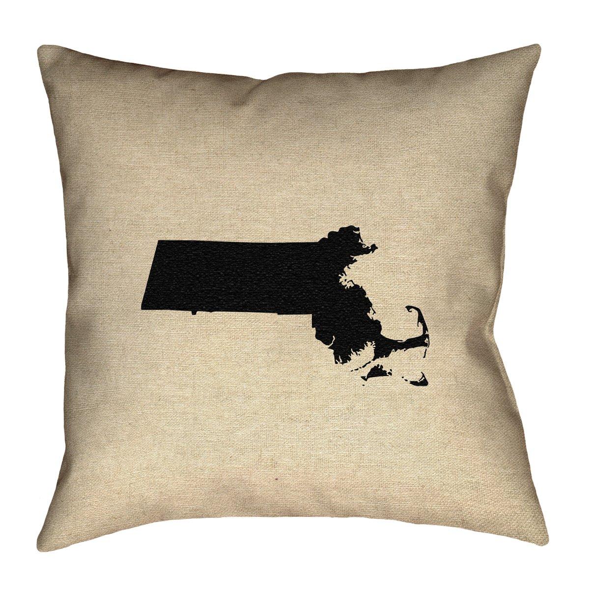 ArtVerse Katelyn Smith 18 x 18 Indoor//Outdoor UV Properties-Waterproof and Mildew Proof Massachusetts Pillow