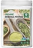 Moringa Green Leaf Powder (1/2 Pound), Organic Raw-Gluten-Free & Non-GMO