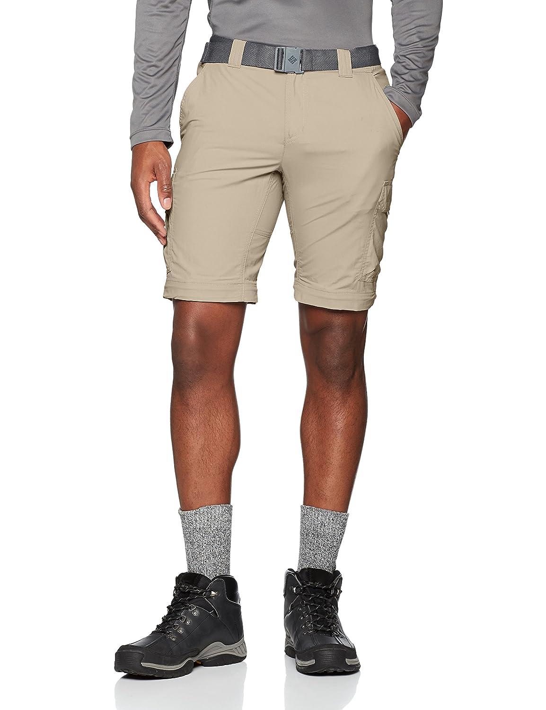 Marr/ón Walking Trousers Silver Ridge II Columbia Pantal/ón de Excursionismo Convertible para Hombre Tusk W38//L32