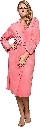 L/&L Accappatoio Felpato Vestaglia Donna con Cappuccio Tuppy Short