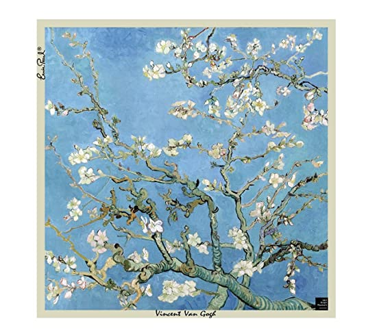 Van Gogh Almond Blossoms Silk Scarf Amazoncouk Clothing