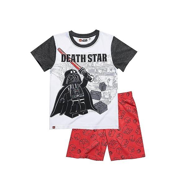 Star Wars - Pijama dos piezas - para niño blanco/rojo 10 años