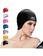 Baleine de bain en silicone Bouchons pour homme et femme étanche Cheveux  longs Bonnet de bain