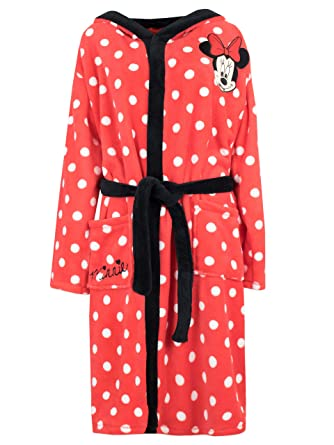 Disney Womens Minnie Mouse Robe Size Small Red