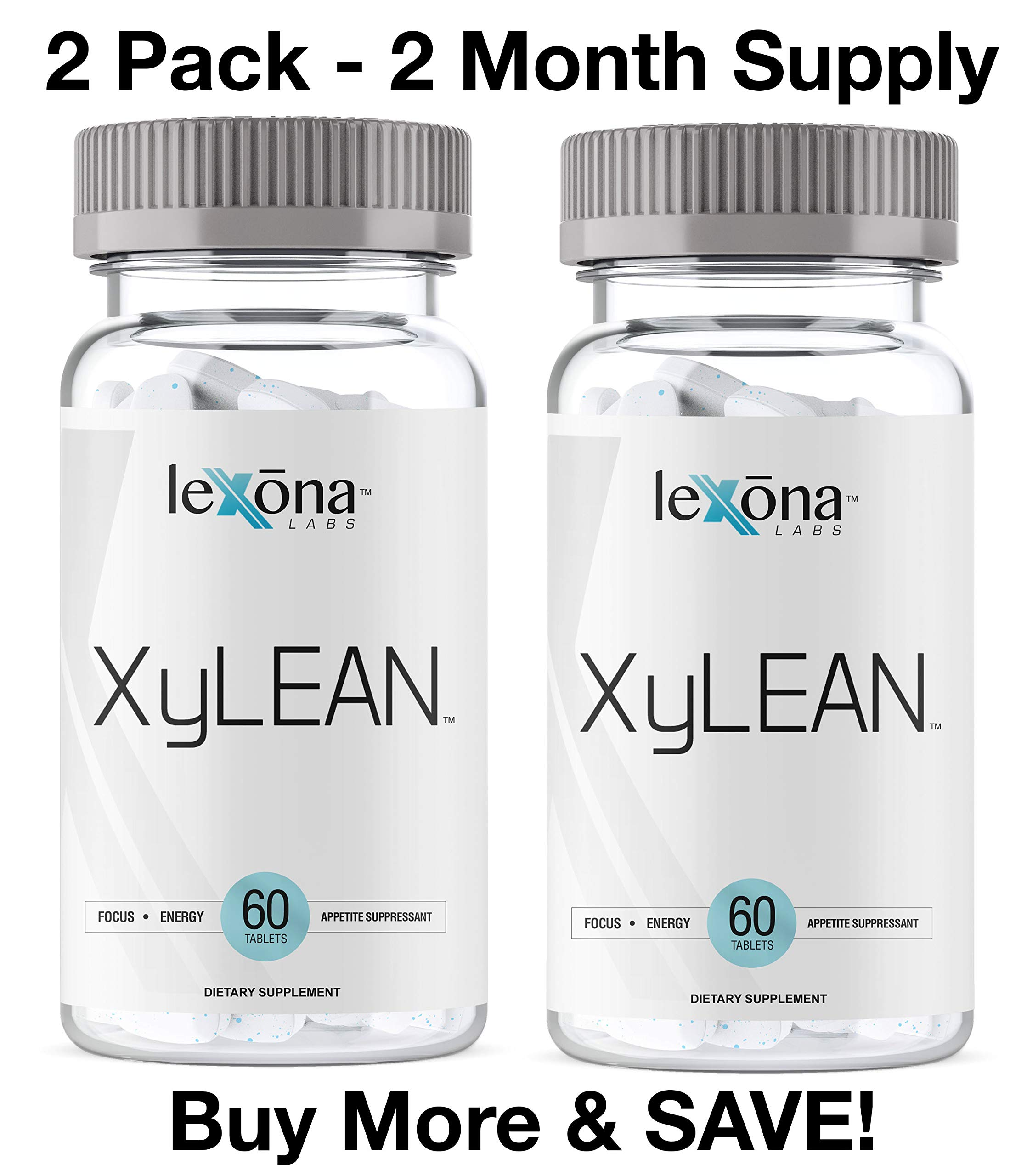 XyLEAN Huge Sale | #1 Rated Diet Pills for Men & Women w/FDA Approved Phase 2 Carb Controller | Dr. Formulated Weight Loss Aid | Helps Curb Hunger, Reduce Water Retention, Increase Energy | 2 Pack by XyLEAN