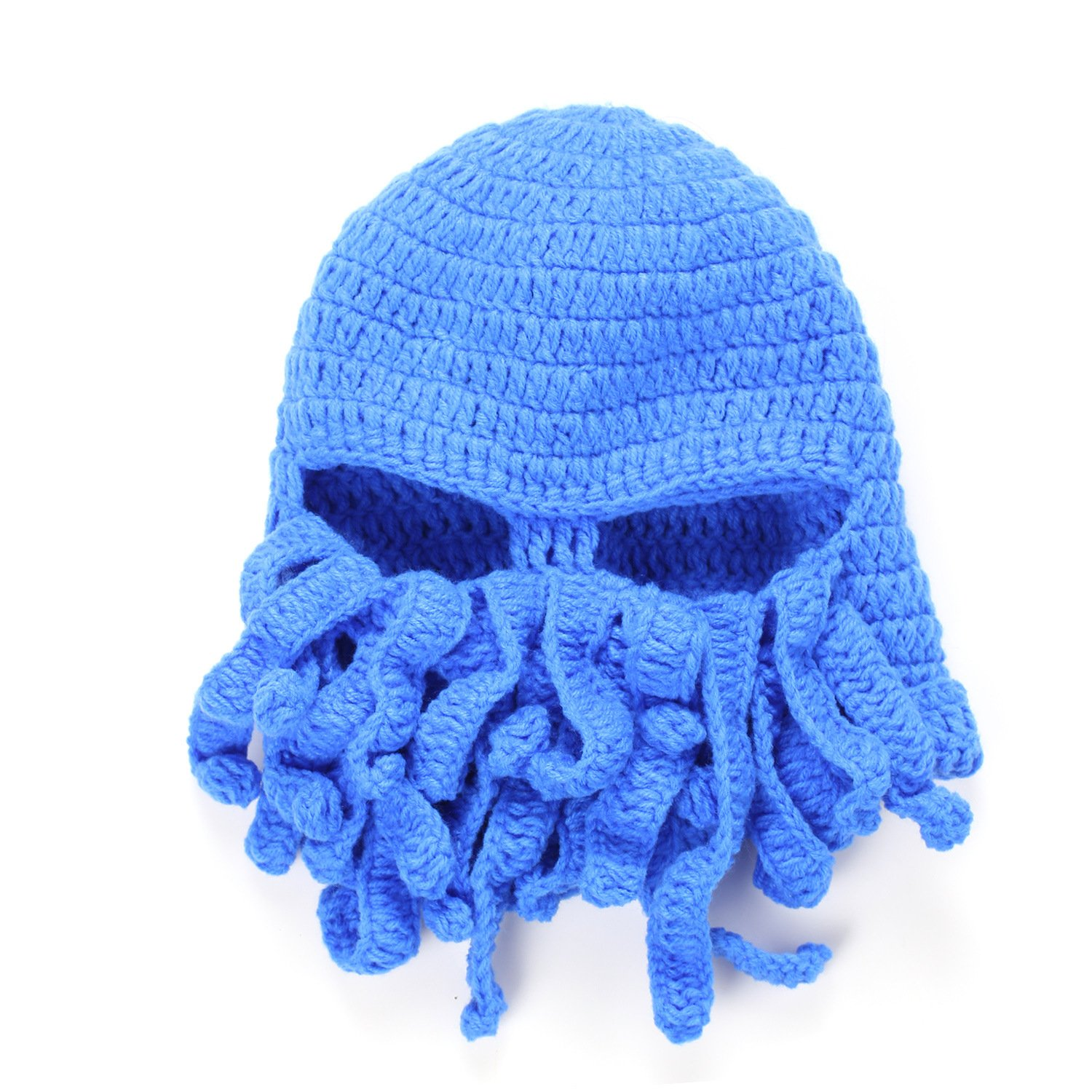Butterme Unisex Winter Wind Ski Mask Barbarian Beard Hat Tentacle Krake Strick Beanie Cap Handgemachtes Hat