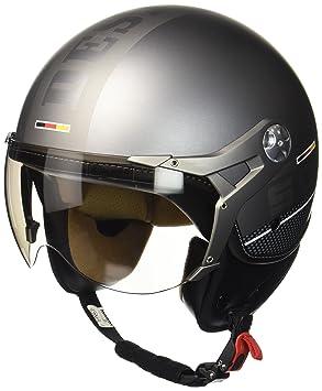 SOXON SP-325-PLUS Titanium Ace · Bobber Retro Piloto Vintage Casco Demi-